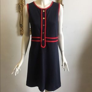 Tory Burch red and blue wool dress